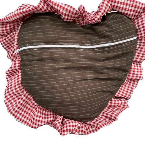 Hinterseite Herzkissen Zirm