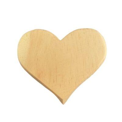 Kleines Zirbenholz Herz aus Südtirol ca. 8x8 cm
