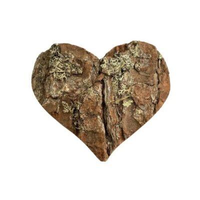 Uriges hochwertiges Zirbenholz Herz aus Südtirol mit Rinde1 ca. 12x12 cm